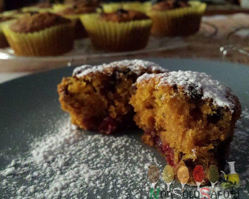 Muffin zucca e mirtilli neri