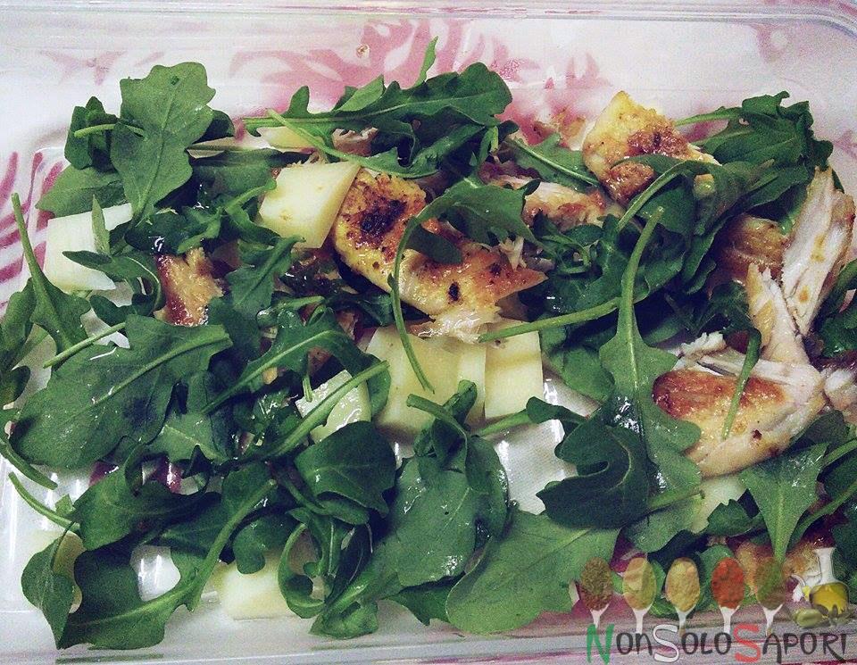 insalata di pollo con olio di argan