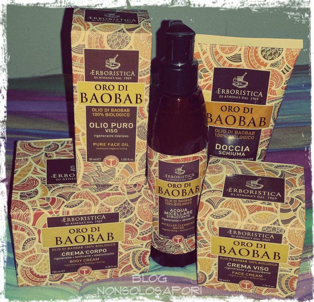 Linea cosmetica Oro di Baobab