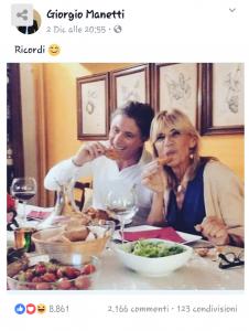 Post di Giorgio sul suo profilo Facebook datato 2 Dicembre 2017